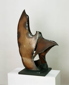 """Fugues""original  steel unic piece abstract sculpture"