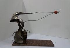 gymnast  Original Steel Sculpture
