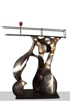 """IRONIA DEL EQUILIBRIO original iron  sculpture 2000"