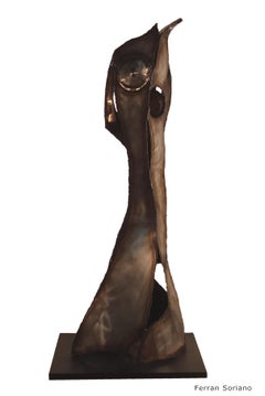"""SINUOSIDAD""- abstract iron sculpture"
