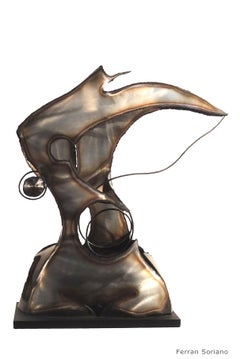 """SUGESTION  ""-original iron aluminium sculpture 2004"