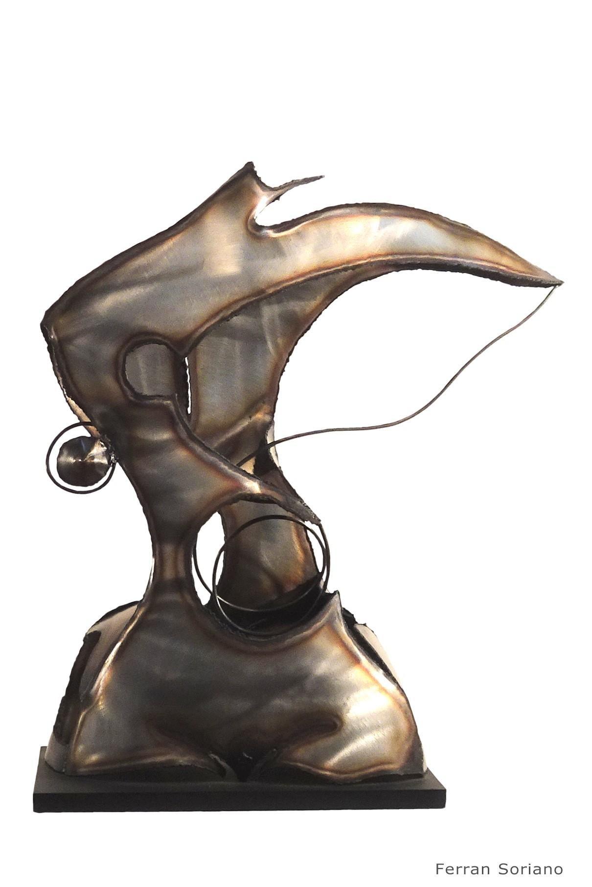 """""""SUGESTION  """"-original iron aluminium sculpture 2004"""