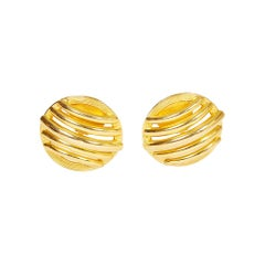 Ferrandis 80s Oversize Gold Earrings