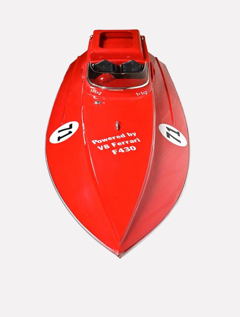20th Century Ferrari Freccia Rossa Speed Motorboat For Sale