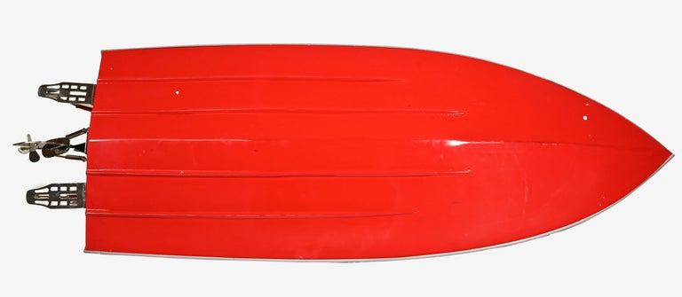 Metal Ferrari Freccia Rossa Speed Motorboat For Sale