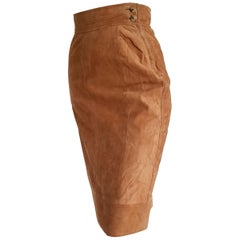 FERRÉ light brown suede skirt - Unworn, New