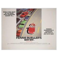 Ferris Bueller's Day Off 1986 UK Quad Film Movie Poster, Linen Backed