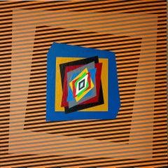 "Colourful, op-art, modern painting ""Movimenti Cinetici"""