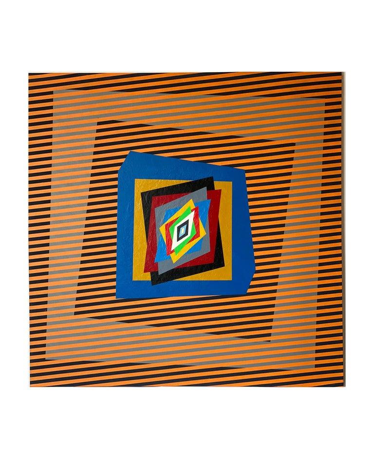 Colourful, op-art, modern painting