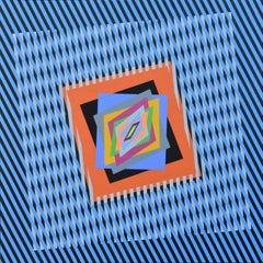 The emotion on the color in op art
