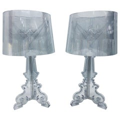 """Ferruccio Laviani Crystal """"Bourgie"""" Lamps for Kartell, a Pair"""