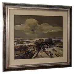 Ferruccio Rosini 20th Century Oil on Canvas Italian Signed Seascape Painting