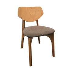 Fresta Brazilian Contemporary Wood Upholstered Chair by Lattoog