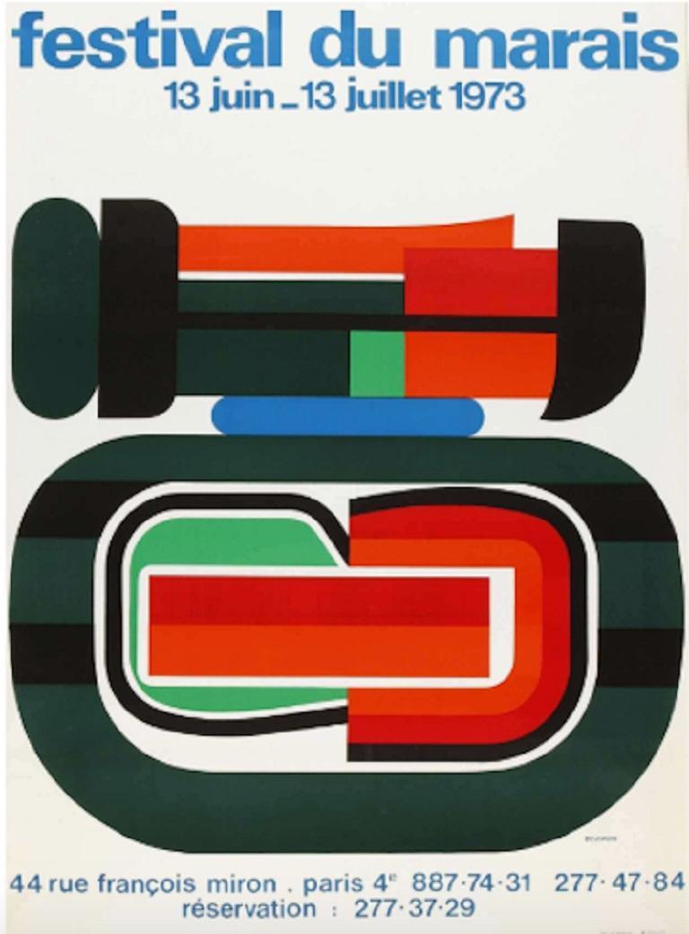 Late 20th Century Festival Du Marais Original Vintage Poster For Sale