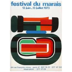 Festival Du Marais Original Vintage Poster