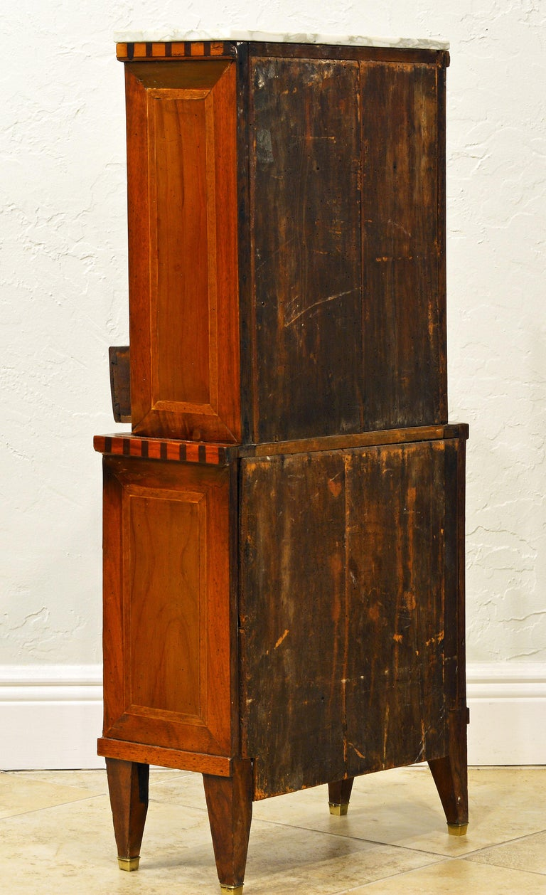 Fetching Small Austrian Italian Inlaid Tambour Door Chiffonier In Good Condition For Sale In Ft. Lauderdale, FL
