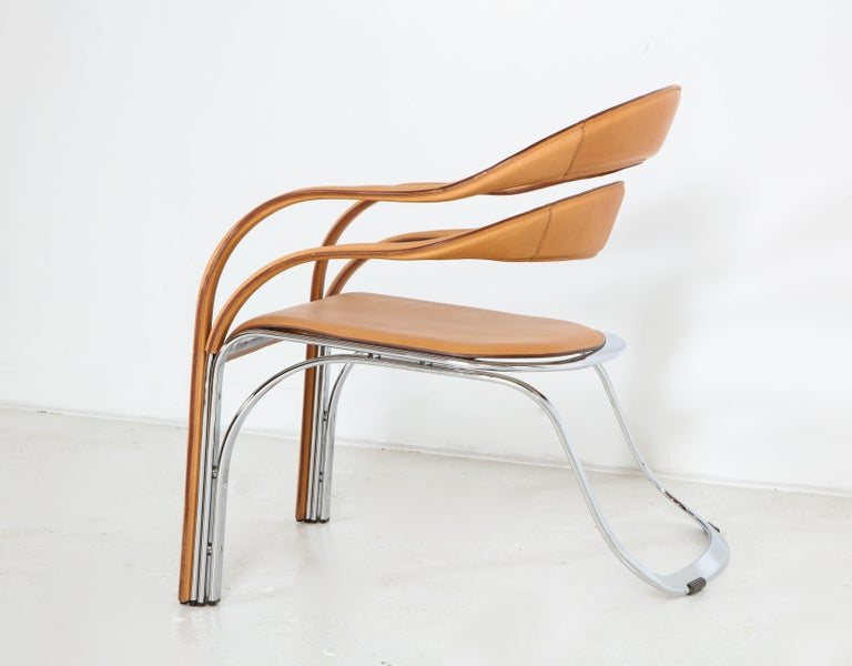 Fettucini Lounge Chair Offered by Vladimir Kagan Design Group For Sale 9