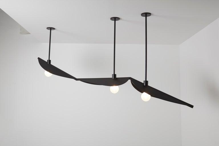 Lebanese Feuillage Trio Ceiling Mounted Black, Carla Baz For Sale