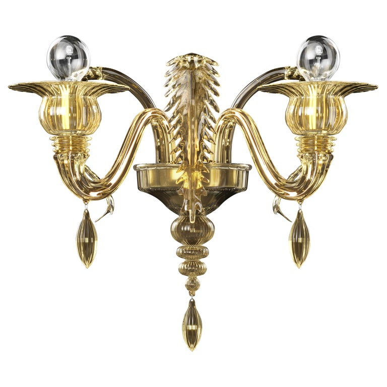 Fez 5602 02 Wall Sconce in Glass, by Barovier&Toso For Sale