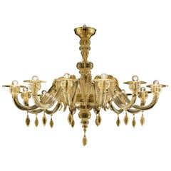 Fez 5602 12 Chandelier in Glass, by Barovier&Toso