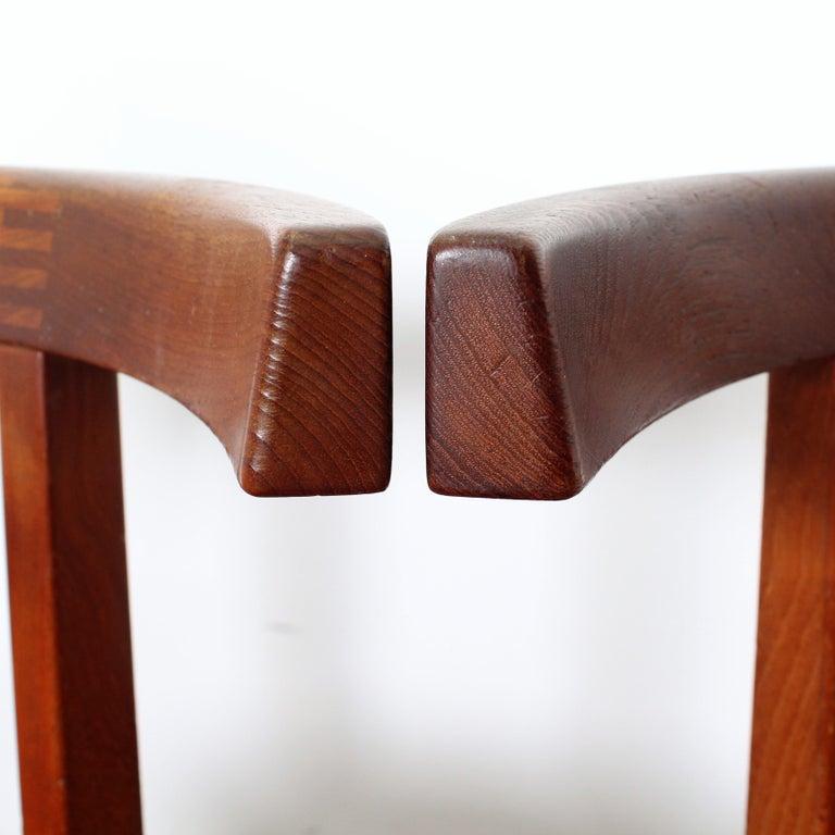 FF Caffrance 1960 Modern Design Teak Wooden Chairs For Sale 5