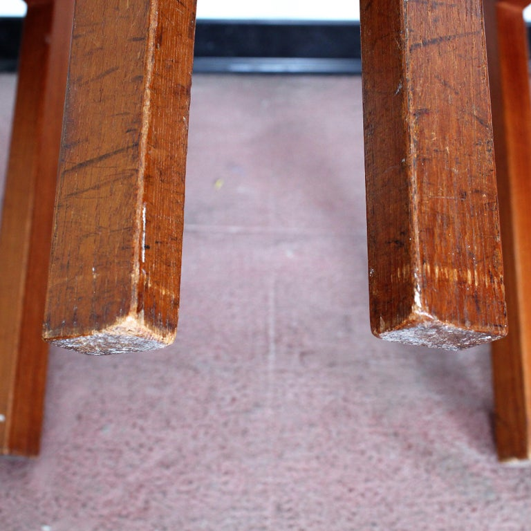 FF Caffrance 1960 Modern Design Teak Wooden Chairs For Sale 8