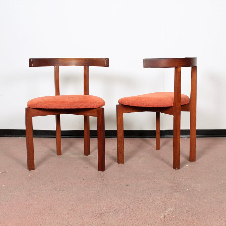 FF Caffrance 1960 Modern Design Teak Wooden Chairs For Sale 1