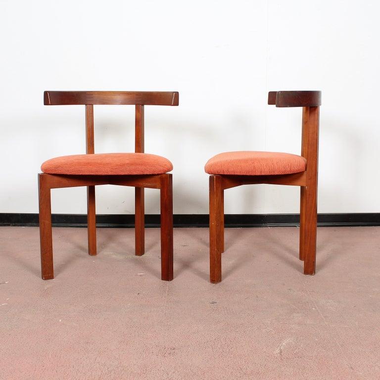 FF Caffrance 1960 Modern Design Teak Wooden Chairs For Sale 2