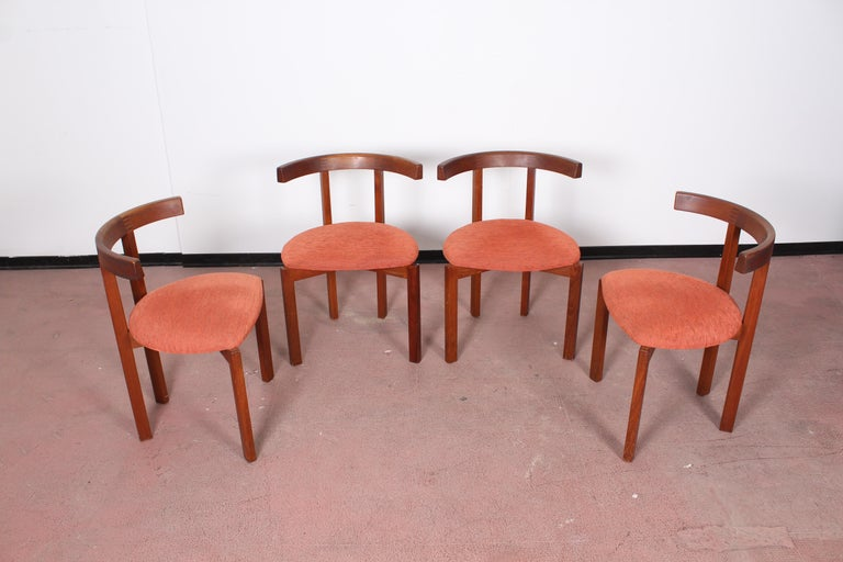 FF Caffrance 1960 Modern Design Teak Wooden Chairs For Sale 3