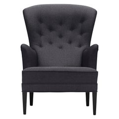 FH419 Heritage Chair in Oak Painted Black & Fiord 191 Fabric by Frits Henningsen
