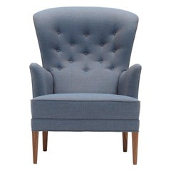 FH419 Heritage Chair in Walnut Oil with Canvas 734 Fabric by Frits Henningsen