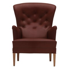 FH419 Heritage Chair in Walnut Oil with Sif 93 Leather by Frits Henningsen
