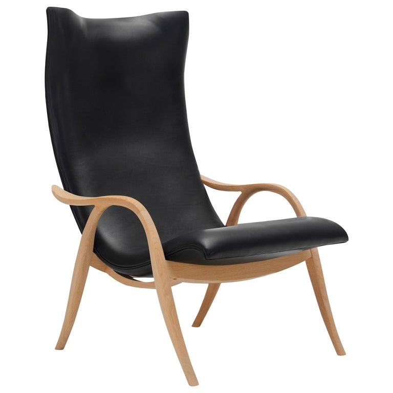For Sale: Black (Sif 98) FH429 Signature Chair in Oiled Oak by Frits Henningsen