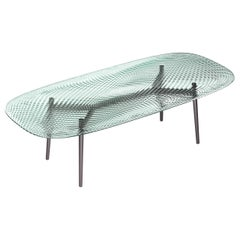Fiam Coral Beach CB220 Small Table in Fused Transparent Glass Top, by Mac Stopa