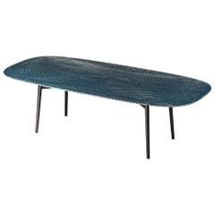 Fiam Coral Beach CB240/VF Medium Table in Night Blue Lacquered Glass, Mac Stopa
