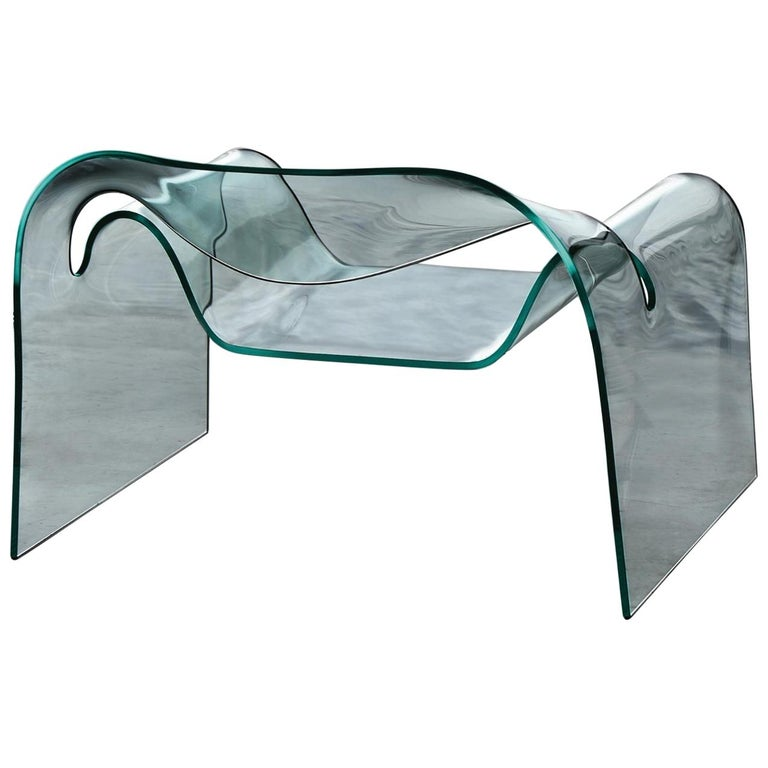 Fiam Ghost Chair in Glass, by Cini Boeri For Sale