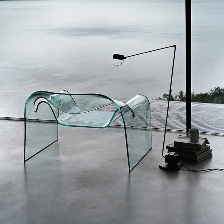 Contemporary FIAM Ghost Glass Armchair For Sale