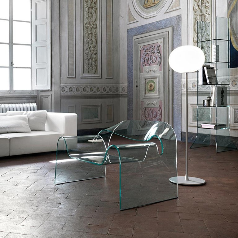FIAM Ghost Glass Armchair For Sale 1
