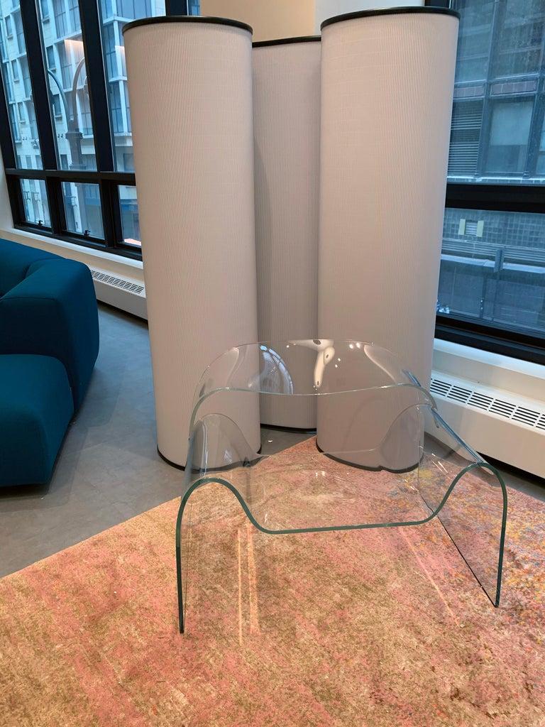 Italian FIAM Ghost Glass Armchair For Sale