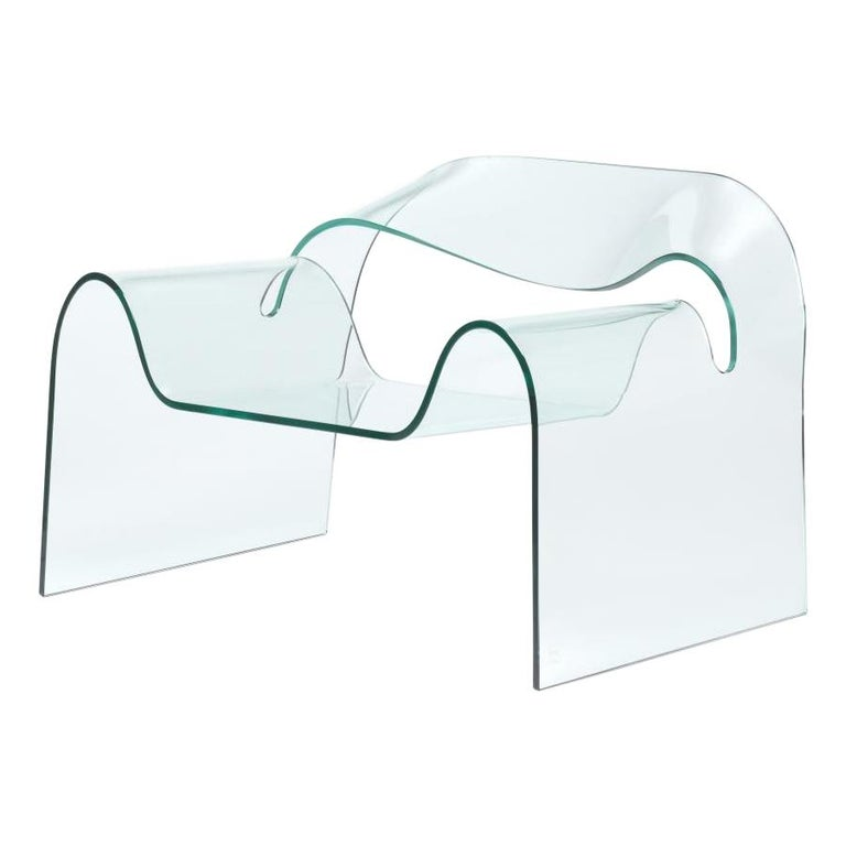 FIAM Ghost Glass Armchair For Sale