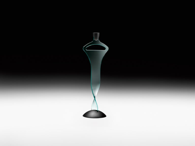 Modern Fiam Homo Sapiens 072 Valet Stand in Curved Glass, by Fabio Di Bartolomei For Sale
