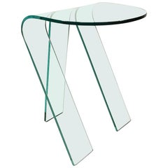 Fiam Italian Design Glass Side Table