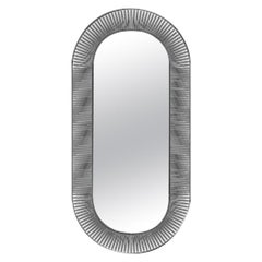 Fiam Kathleen KAOV/VF Wall Oval Mirror in Glass, by Davide Oppizzi