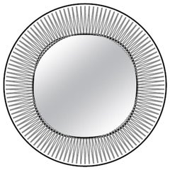 Fiam Kathleen KAR/VF Wall Round Mirror in Glass, by Davide Oppizzi