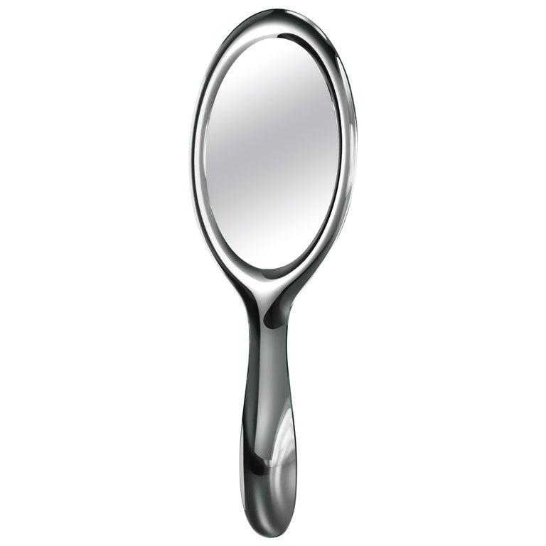 Fiam Lollipop LP/200 Freestanding Mirror in Silvered Glass, by Marcel Wanders For Sale