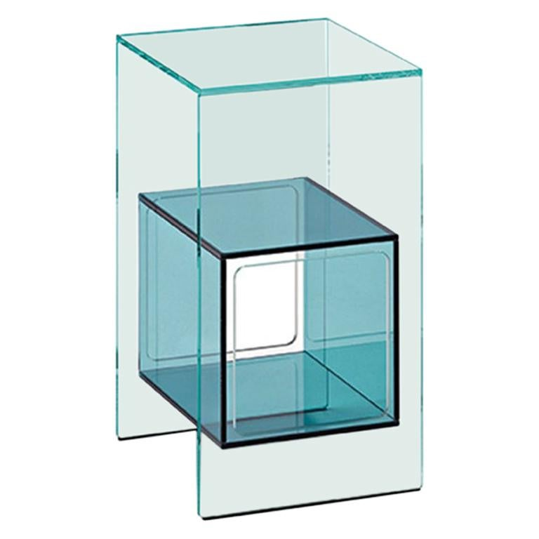 Fiam Magique Cubo MQC/3834 Bedside Table with Cube in