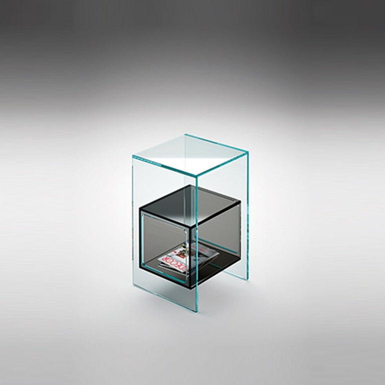 Fiam Magique MQ/32GN Coffee Table in Smoke Grey Glass with