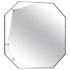 Fiam Pinch PI/90 Octagonal Mirror in Glass, by Lanzavecchia & Wai