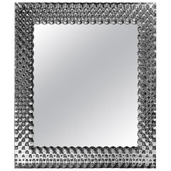 Fiam Pop PP/206 Square Wall Mirror in Fused Glass, by Marcel Wanders
