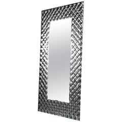 Fiam Pop PP/216 Rectangular Wall Mirror in Fused Glass, by Marcel Wanders